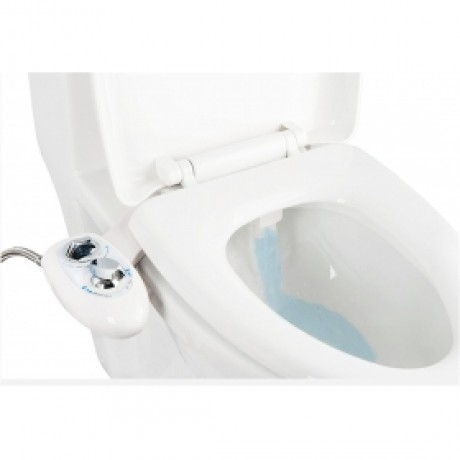 IBAMA Non-Electric Mechanical Water Toilet Seat Attachable Bidet- Dual Nozzle