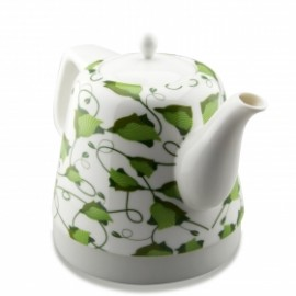 LuguLake Teapot Ceramic Electric Kettle, Cordless Water Tea, 1200ML (Green)