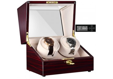 CHIYODA Automatic Double Watch Winder with Dual Quiet Mabuchi Motors