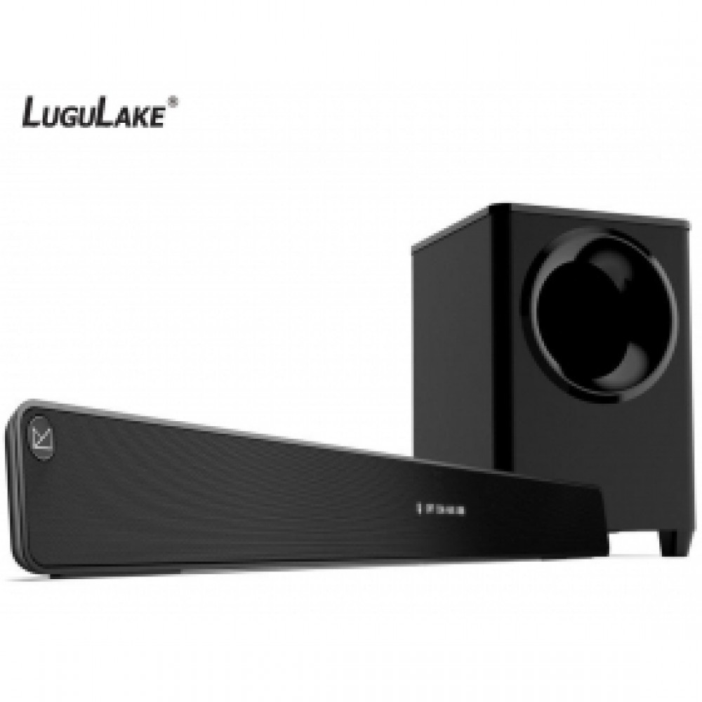 LuguLake 2.1 Channel 140watt TV Soundbar System with Wireless Subwoofer