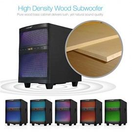 LuguLake Bluetooth TV Soundbar Speaker System with Subwoofer