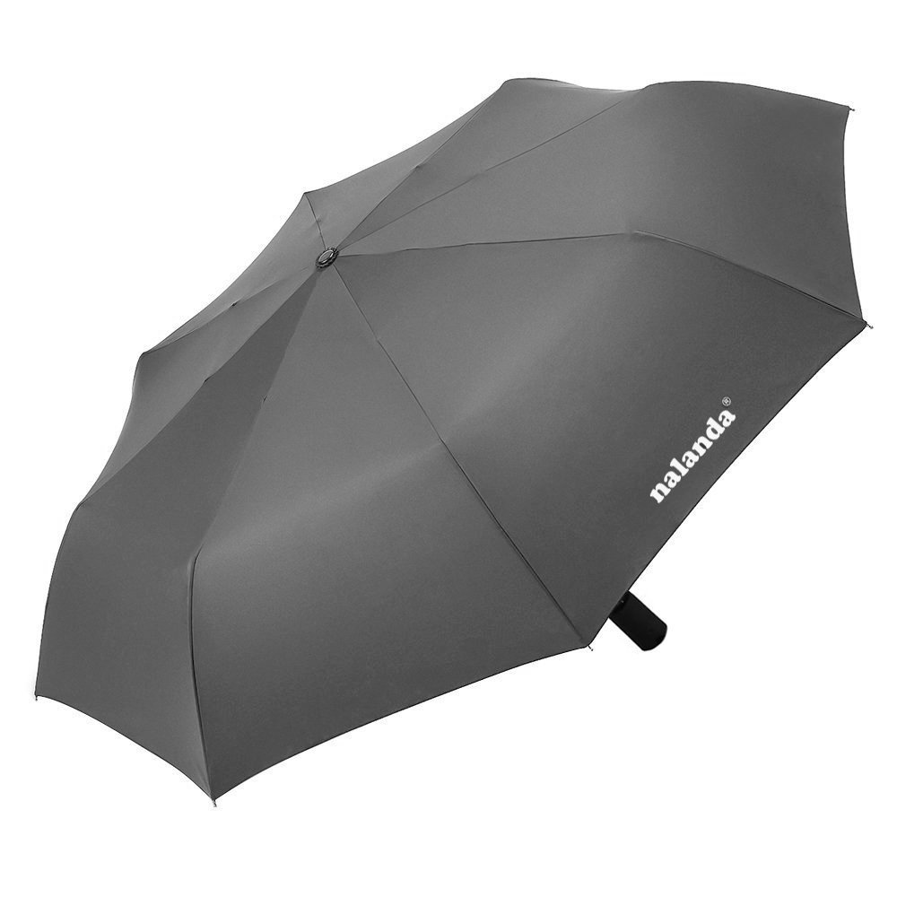 Nalanda Automatic Folding Travel & Business Umbrella Auto Open and Close with Windproof Frame - Grey