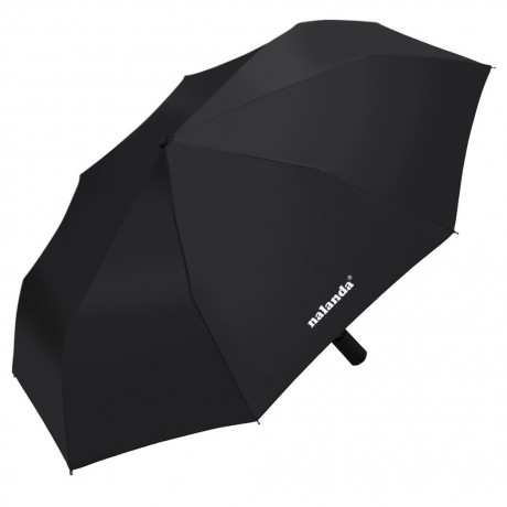 Nalanda Automatic Folding Travel & Business Umbrella Auto Open and Close with Windproof Frame - Black