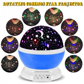 Best seller Romantic New Rotating Star Moon Sky Rotation Night Projector Light Lamp Projection with high quality Kids Bed Lamp