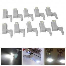 10pcs Universal Cabinet Cupboard Hinge White LED Light Wardrobe System Modern Home Kitchen Lamp