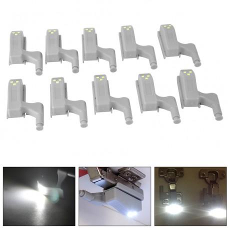10pcs Universal Cabinet Cupboard Hinge White LED Light Wardrobe System Modern Home Kitchen Lamp
