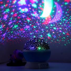 Holigoo Romantic Rotating Spin Night Light Projector Sky Star Moon Master USB Lamp Led Projection For Kids Baby Sleep Lighting