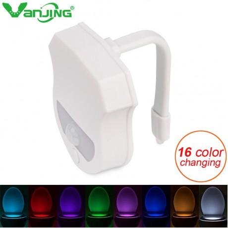 16 Colors Sensor LED Toilet Night Light Body Motion Activated Backlight LED Lamp Bathroom Toilet Light
