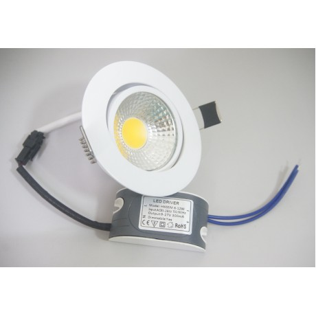 Dimmable LED Downlight  6W 9W 12W Spot LED DownLights Dimmable cob LED Spot Recessed down lights for living room 110v 220v