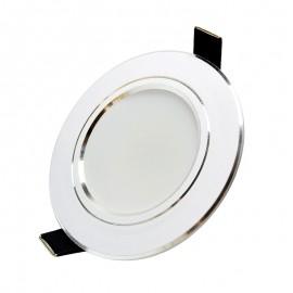 4Pcs Bright LED Downlight 5w 9w 15w Silver border  Round LED Ceiling Recessed Spot Light 110V 230v Down Light Cold Warm White