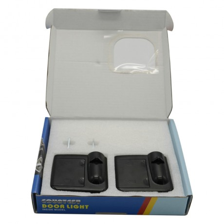Hot Sale 2pcs/lot Wireless Projector Lights Welcome Step LED Light Laser Shadow Styling Battery Power Lights