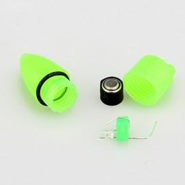 10pcs LED Flash Light Night Electronic Fishing Bite Alarm Finder Lamp Double Twin Bells Tip Clip On Fishing Rod Tackle - ALI88