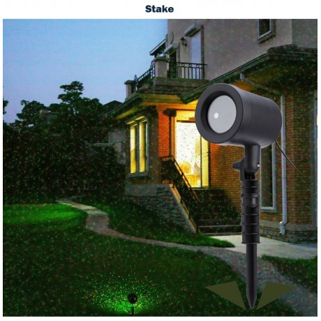 Aimbinet Outdoor Laser Projector Sky Star Spotlight Showers Landscape DJ Disco Lights R&G Garden Lawn Christmas party