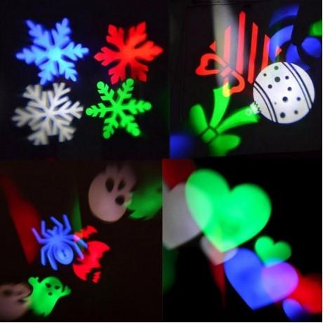 Christmas Laser Snowflake Projector Outdoor LED Waterproof DJ Disco Stage Lights Home Garden Star Light Indoor Outdoor Decor