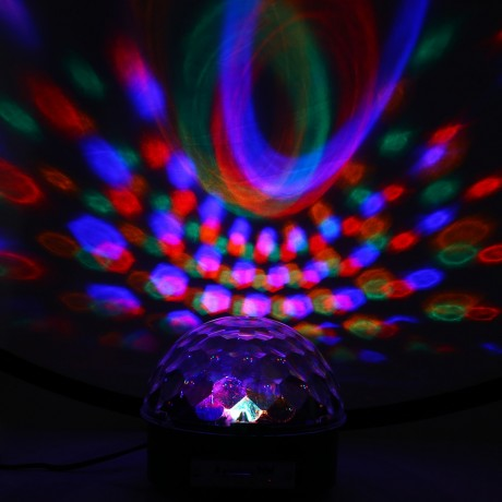 10 - 25W 6 LEDs RGB Premium Sound Control Stage Light RGB LED Magic Crystal Ball Lamp Disco Light Laser Wedding Party Lamp