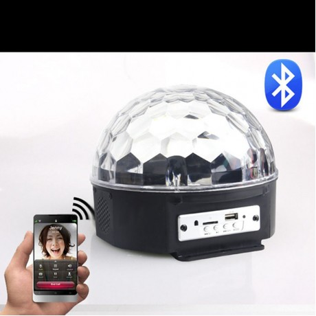 Lumiparty BLUETOOTH MP3 Crystal Magic Rotating Ball Remote control 6 colors RGB disco balls lights for parties/LED Stage Lights