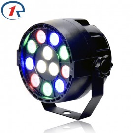 ZjRight 15W RGBW 12 LED par light DMX512 Sound control colorful LED stage light for music concert bar KTV disco effect lighting