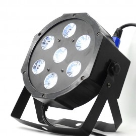 7x12w led Par lights  RGBW 4in1 flat par led dmx512  disco lights professional stage dj equipment