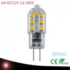High quality DC12V G4 LED 12PCS SMD2835 Corn Light bulb Super bright Replace Halogen Lamp Led Light