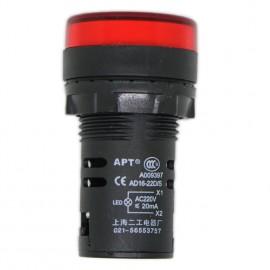 10PCS Red AD16-22D/S LED Panel Signal Indicator Warning Light Lamp 22mm 220V