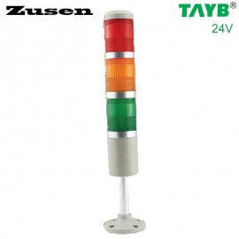 Zusen NEW 24v red yellow and green color led 50mm signal tower light with three layer