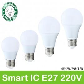 e27 220v for decor bulb lamp E27 ampoule lampada rechargeable light bulb light ceiling light bulb led  lamp AC 220V 12 led light