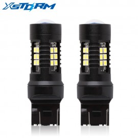 2Pcs T20 Led 7443 Bulb W21/5W Led 21 3030SMD Auto Lights Bulbs Reverse Backup DRL Car Turn Signal Light White Yellow Amber Red