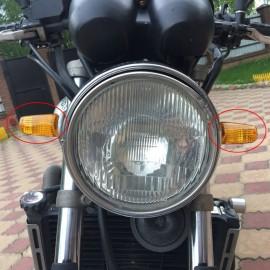 POSSBAY 12V Universal Motorcycle Turn Signal Light Indicators Amber Light For Honda CB 600 Hornet CB400 Shadow 750 Harley Yamaha