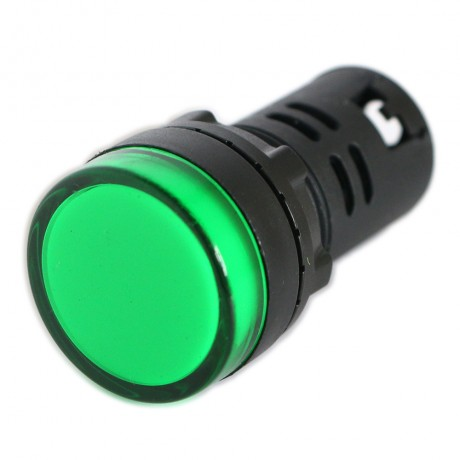 10PCS Green AD16-22D/S 220V 20mm LED Indicator Pilot Signal Warning Light Lamp