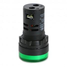 10PCS Green AD16-22D/S 220V 20mm LED Indicator Pilot Signal Warning Light Lamp