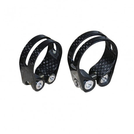 14g Carbon Bike Seat Clamps Water Proof 3K Carbon Fiber Bicycle Seatposts Clamps 31.8mm 34.9mm Super Light