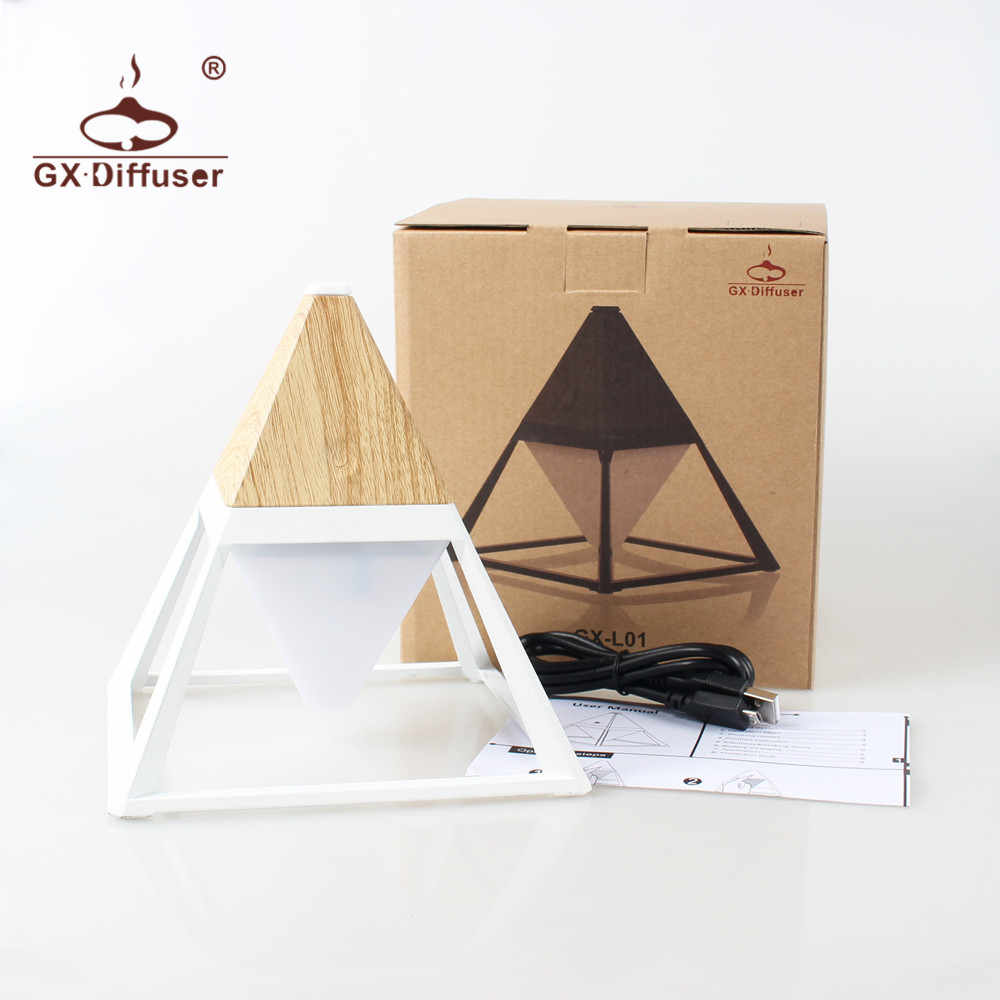 GX.Diffuser Hot Sale Pyramid Practical Touch Switch Floor Lamps Waterproof  Eye Protection USB Bedside Lamp Floor Light