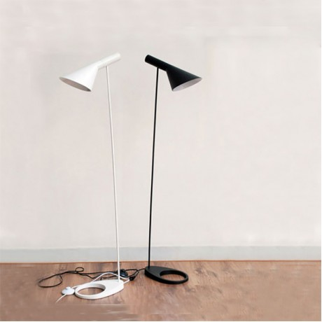 AJ Floor Lamp E27 Black/White Arne Jacobsen Louis Poulsen Metal Stand Floor Lights For Living Room/Country House/Bar/Hotel