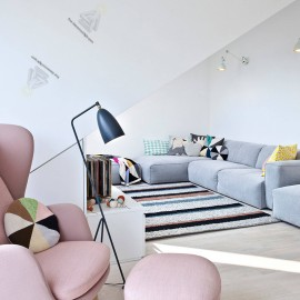 Scandinavian design Replica Grasshopper triangle Floor Lamp for Loft Industrial Standing Lamp Hotel Bedroom Study Living Room