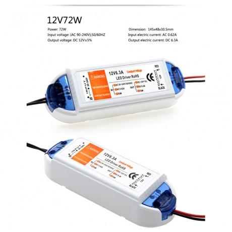 DC12V 18W 72W 100W LED Lighting Transformers High Quality Safy Driver for LED Strip Power Supply