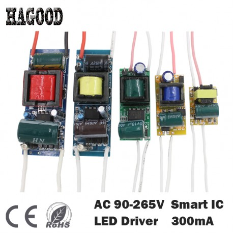 1-3W,4-7W,8-12W,12-18W,18-24W,25-36W LED driver power supply built-in constant current Lighting Transformers for DIY LED lamp