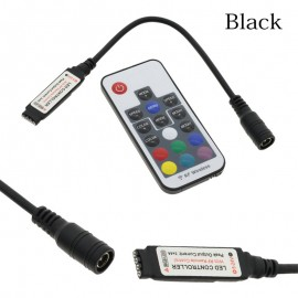 LED RGB Controller Black / White /Doubel DC12V 17key RF Wireless Remote Controller For RGB LED Strip Light