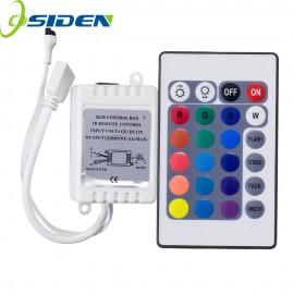 OSIDEN DC12V 24 Keys IR Remote RGB Controller for SMD3528/5050/5730/5630/3014 RGB LED Strip lights Mini Controller