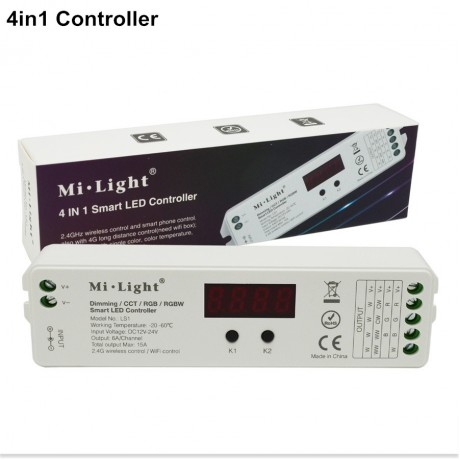 2.4G MI.Light Wireless WIFI RGB Led Controller Strip Bulb Lamp Internet Remote Controller Compatible with IOS, Android