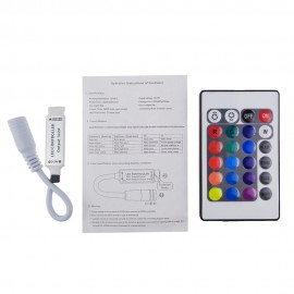 12V 24Key LED Controller RGB IR Remote controller for  5050/3528/5730/5630/3014 RGB LED Strip Light 24 Key RGB Remote  1pcs/LOT