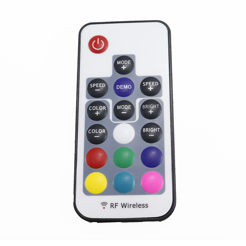 DC5V USB RGB LED Controller 17key 12A RF Wireless Mini Remote Controller for RGB 3528 5050 smd Led Strip tape lighting 5-24V