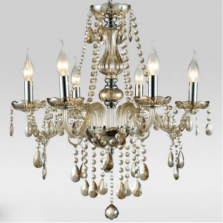 Crystal Chandelier Russia Modern 6 Arm Lustres de Cristal Living Room Lighting Indoor Lamp Luminaria for Wedding Christmas Decor