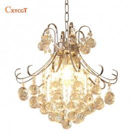 Modern Luxury LED Crystal Chandelier Restaurants Bedroom Crystal Lamp Fashion Creative Living Room Lamp Aisle Crystal Light