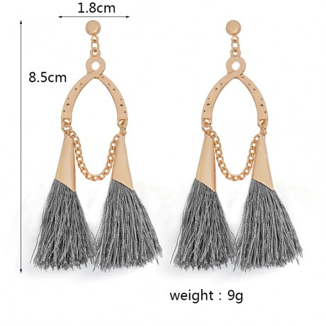 QIHE JEWELRY Earring Long tassel colorful silk gipsy fringe earrings Tassel jewelry Bohemian chandeliers 12 color for choose