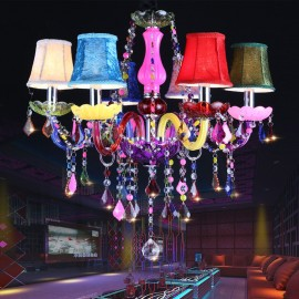 Kitchen chandelier Light Fixtures K9 crystal 6 Lights lustres para sala de jantar for Bedroom modern chandeliers china