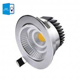 [DBF] Silver Ultra gorgeous Dimmable LED COB Downlight AC110V 220V 6W/9W/12W/15W Recessed LED Spot Light Decoration Ceiling Lamp