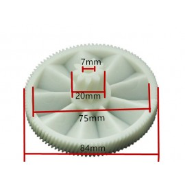 2 Pieces Meat Grinder Parts Plastic Gear 7000898 fit Braun Power Plus G1500 G1300, G1100, G3000,KGZ4, KGZ3