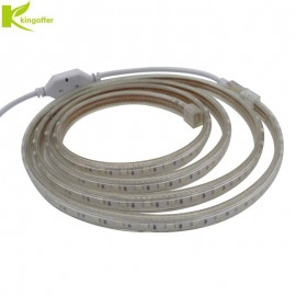 Kingoffer 1M~ 25M SMD 5050 AC220V Led Strip Tape Waterproof Flexible Bar Light 60 Led/M With EU Plug Outdoor / Indoor Decoration