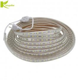 Kingoffer 1M~ 25M SMD 5050 AC220V Led Strip Tape Waterproof Flexible Bar Light 60 Led/M With EU Plug Outdoor / Indoor Decoration