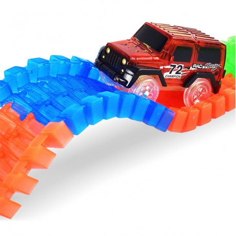 LED Light up Cars for Tracks Electronics Car Toys With